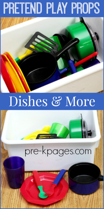 Dishes for Pretend Play Center