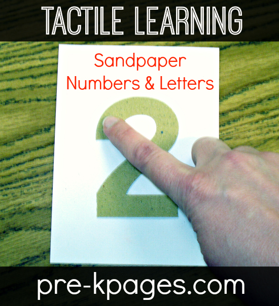 Multi-Sensory Learning with Sandpaper Numbers and Letters