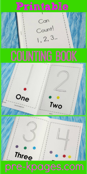 printable 1 10 sticker counting book - Free Preschool Printable Books