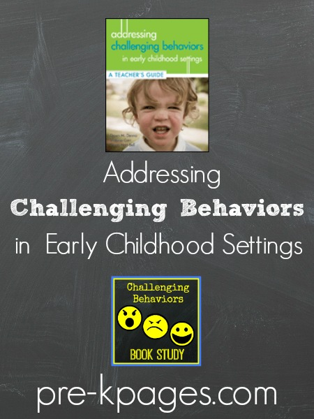 "challenging behaviors in the preschool classroom Creating teaching tools for young children with challenging behavior and caregivers assess child behavior in relation to classroom to preschool "" scripted."