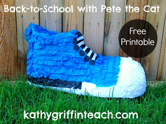 Pete the Cat Blue Sneaker Pinata