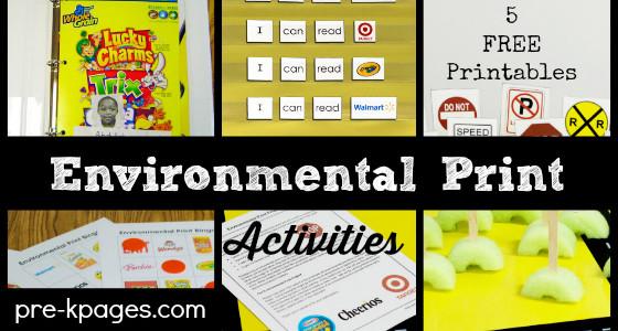 5 Environmental Print Activities for Preschool and Kindergarten