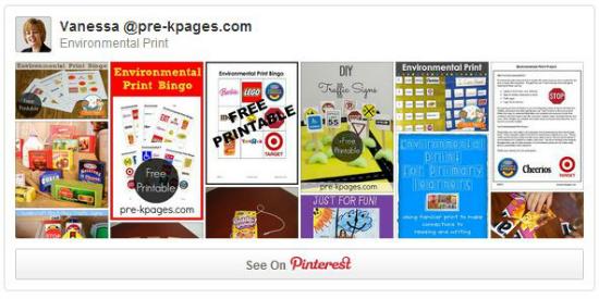 Environmental Print Pinterest Board