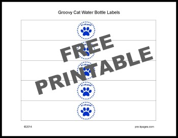 Printable Pete the Cat Water Bottle Labels