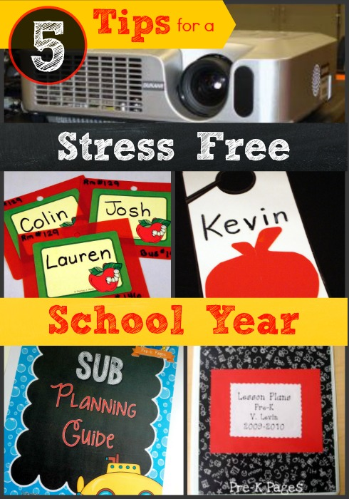 5 Tips for a Stress Free School Year in Preschool and Kindergarten