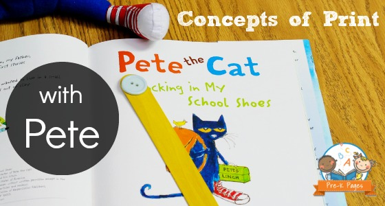 Learning Concepts of Print with Pete the Cat
