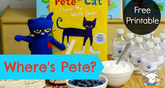 Where is Pete the Cat? Back to School Activity