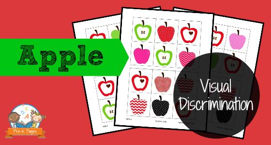 Visual Discrimination Ives Prek Pages. Apple Visual Discrimination. Preschool. Preschool Worksheets Visual Discrimination At Mspartners.co