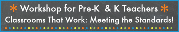 Workshops for Pre-K and Kindergarten Teachers