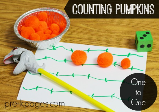 One to One Correspondence Counting Pumpkins Math for Preschool and Kindergarten