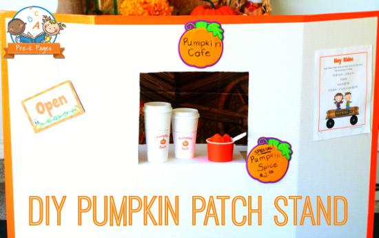 Fun DIY Pumpkin Patch Stand for Pretend Play