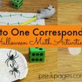 One to One Correspondence Halloween Math activities