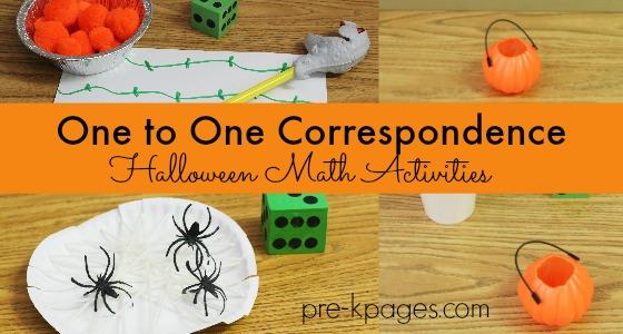 Halloween One-to-One Correspondence Activities