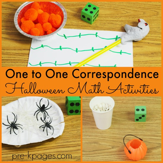 One to One Correspondence Halloween Counting Activities for Preschool and Kindergarten