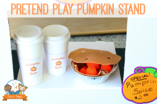 Pretend Play Pumpkin Treat Stand