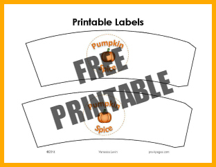 Printable Pumpkin Spice Labels for Pretend Play