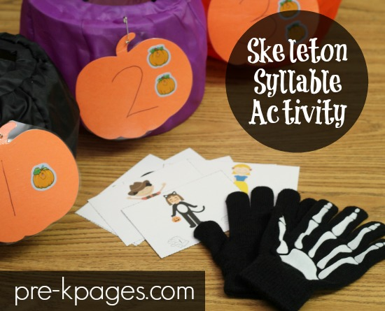 Skeleton Syllable Activity for Preschool and Kindergarten
