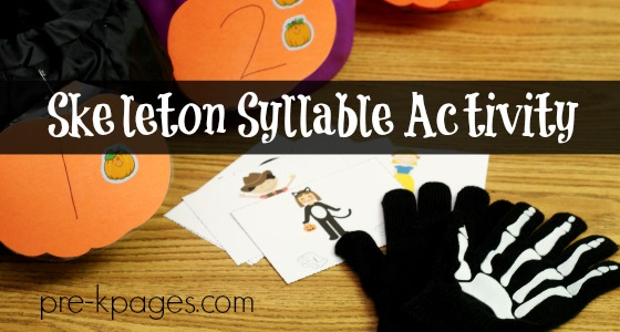 Skeleton Gloves Syllable Game