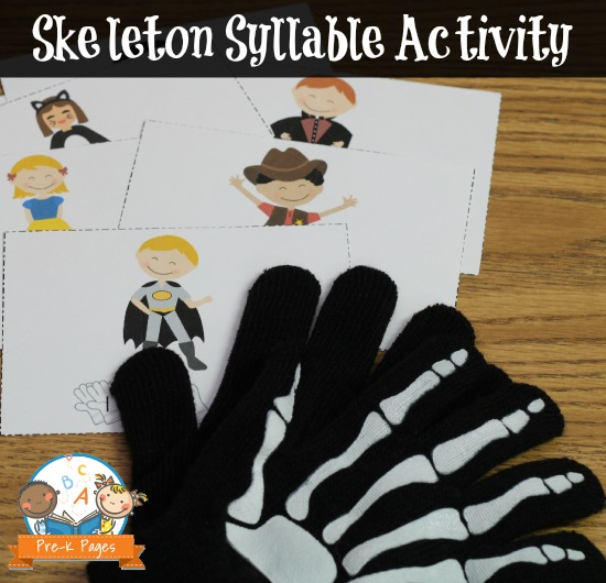 Fun Skeleton Syllable Game for Pre-K and K