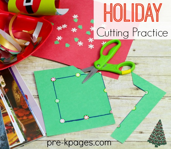 Holiday Scissor Skills Cutting Practice