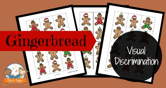 Gingerbread Visual Discrimination Printable for Preschool and Kindergarten