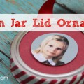 Easy Mason Jar Lid Picture Ornament Craft