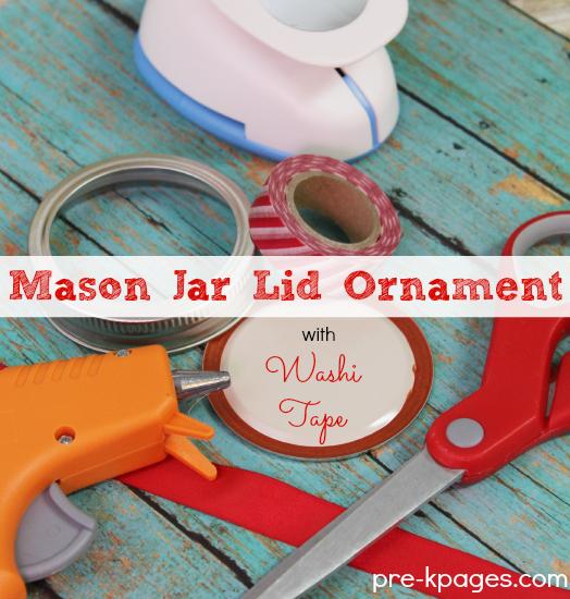 Easy Mason Jar Lid Ornament Craft