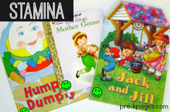 Nursery Rhymes Build Reading Stamina