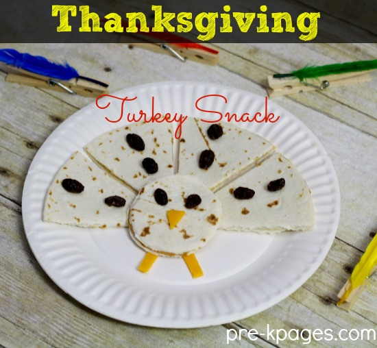 Easy Thanksgiving Turkey Snack for Kids