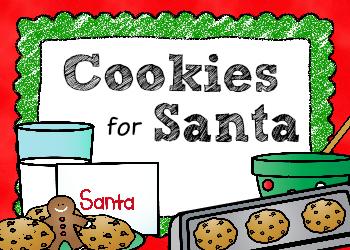 Free Cookies for Santa Writing Printable for Preschool and Kindergarten