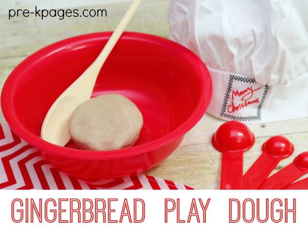 Gingerbread Play Dough Recipe for Preschool and Kindergarten