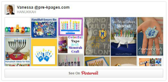 Hanukkah Pinterest Board