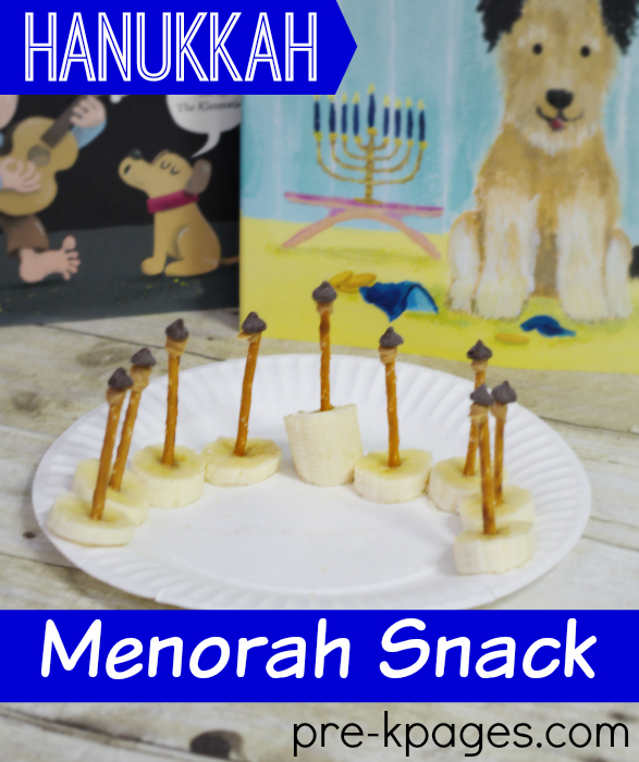 Hanukkah Menorah Snack for Kids