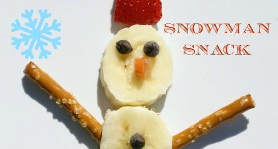 Classroom Recipe: Banana Snowman Snack