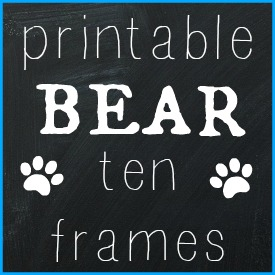 Printable Bear Ten Frames