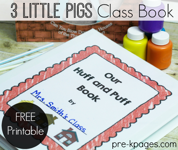 Printable Three Little Pigs Class Book Painting Activity