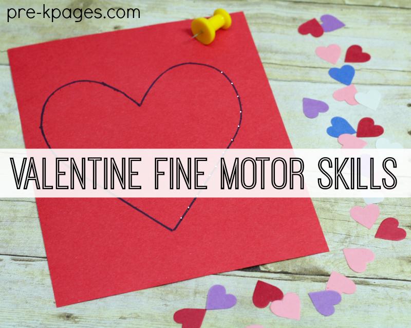 Valentine fine motor activities for preschoolers for Fine motor activities for kindergarten