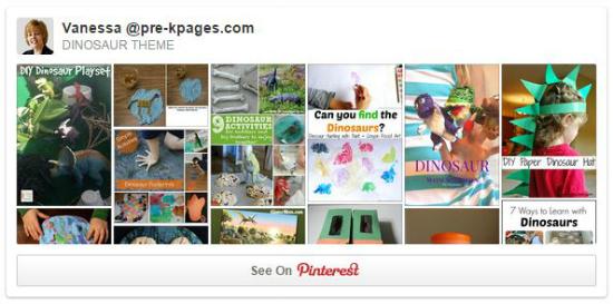 Dinosaur Theme Pinterest Board