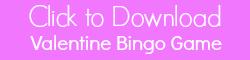 Valentine Bingo Game Printable for Classroom Parties in Preschool and Kindergarten