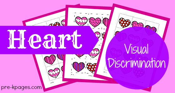 Heart Visual Discrimination Printable