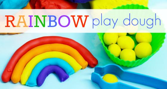 Rainbow Play Dough