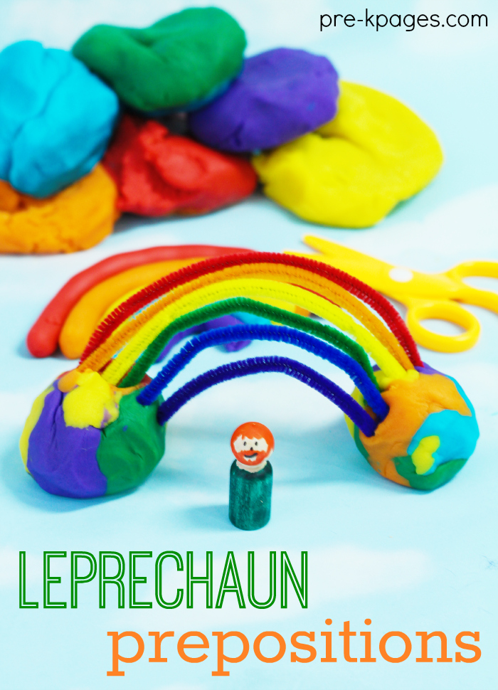 Learning Prepositions with Lucky the Leprechaun Preschool Activity for St. Patrick's Day