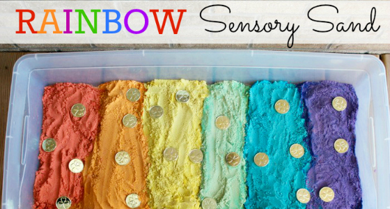 Rainbow Sensory Sand for St. Patrick's Day