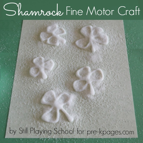 St. Patrick's Day Shamrock Craft for Preschoolers