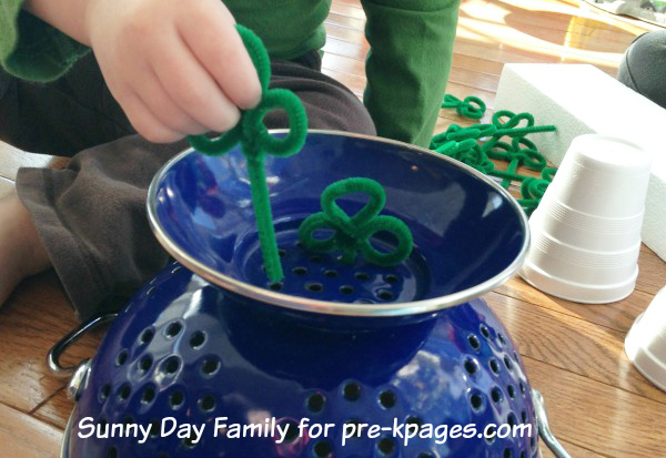 Planting Shamrocks for St. Patrick's Day in Preschool