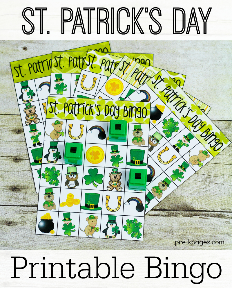 Printable St. Patrick\'s Day Bingo