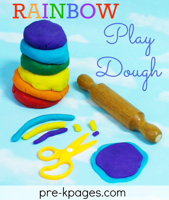 Rainbow Play Dough for Fine Motor Fun in Preschool