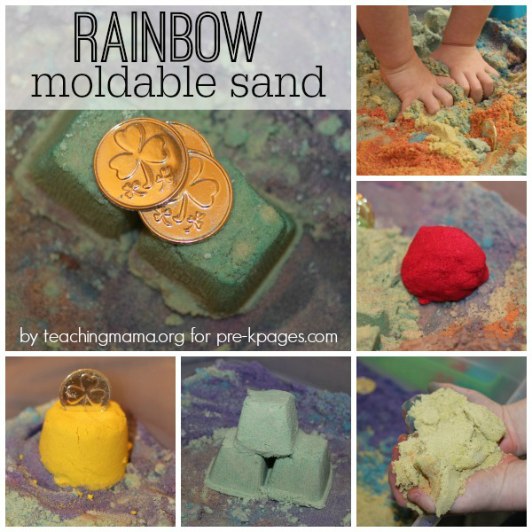 Rainbow Sensory Sand for Preschool