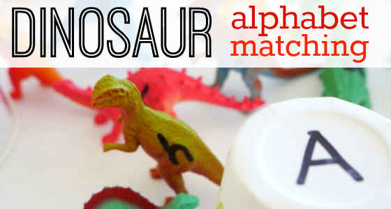 Dinosaur Alphabet Matching Activity for Kids