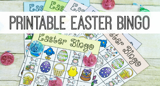 It is a picture of Dynamic Printable Easter Bingo Cards